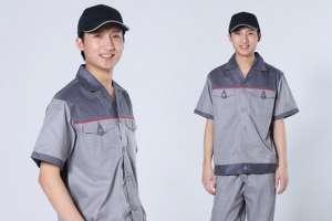 May đồng phục bảo hộ tay ngắn dành cho công nhân