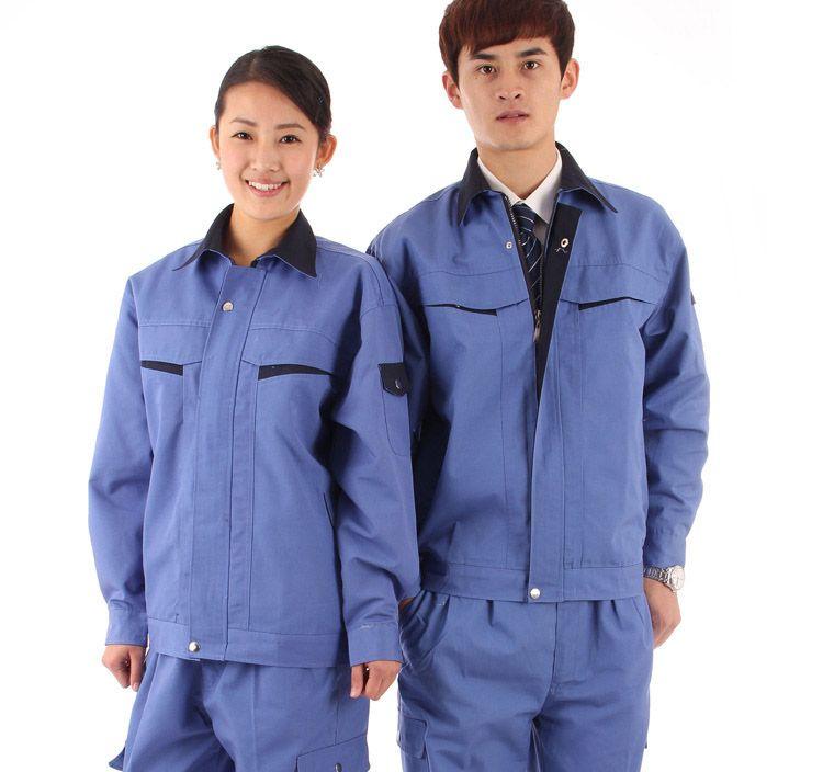 Đồng phục bảo hộ lao động tay dài màu xanh