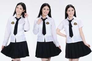 Sơ mi đồng phục học sinh tay dài màu trắng