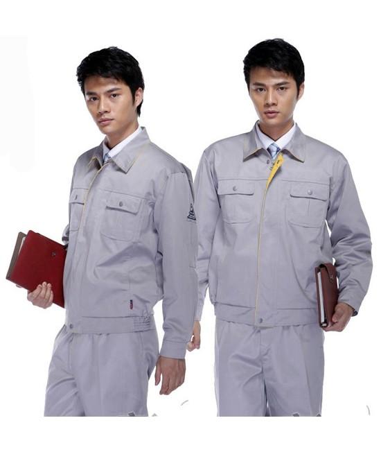 Đồng phục bảo hộ lao động công ty tay dài màu xám