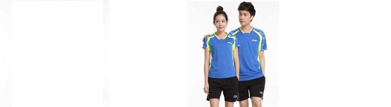Áo thun đồng phục thể thao màu xanh dương phối xanh lá