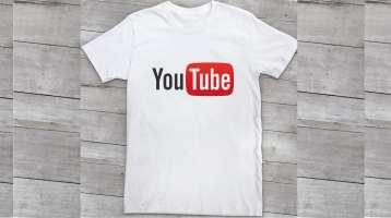 Áo thun đồng phục tay ngắn cổ tròn màu trắng Youtube