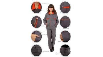 Đồng phục bảo hộ lao động cho công nhân nữ phối màu