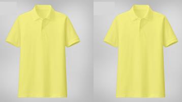 Áo thun đồng phục cá sấu tay ngắn cổ trụ màu vàng