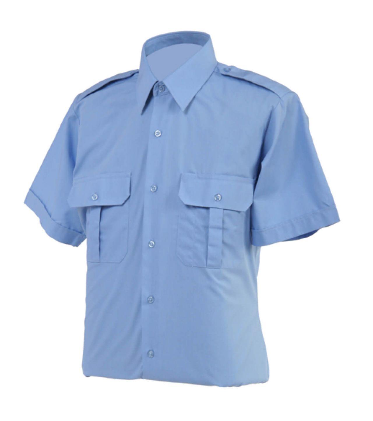 Áo bảo vệ tay ngắn màu xanh nhạt