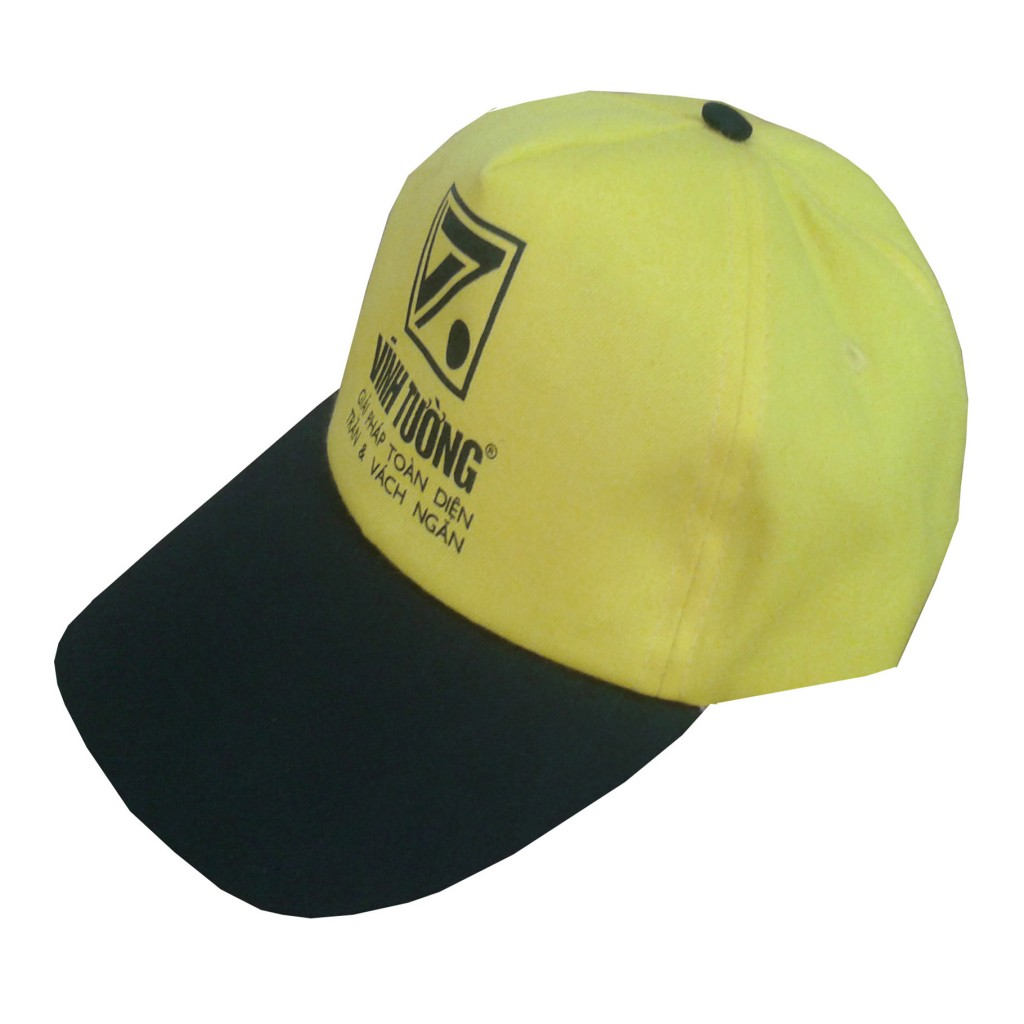 Đồng phục nón kết quà tặng, nón kết sự kiện màu vàng đen