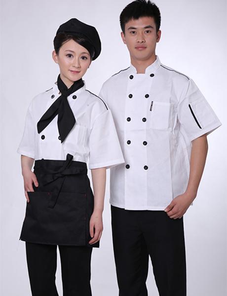 Đồng phục bếp ngắn tay kèm nón hoặc tạp dề