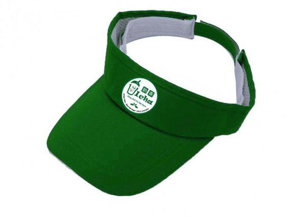 Đồng phục nón kết nửa đầu màu xanh có in logo