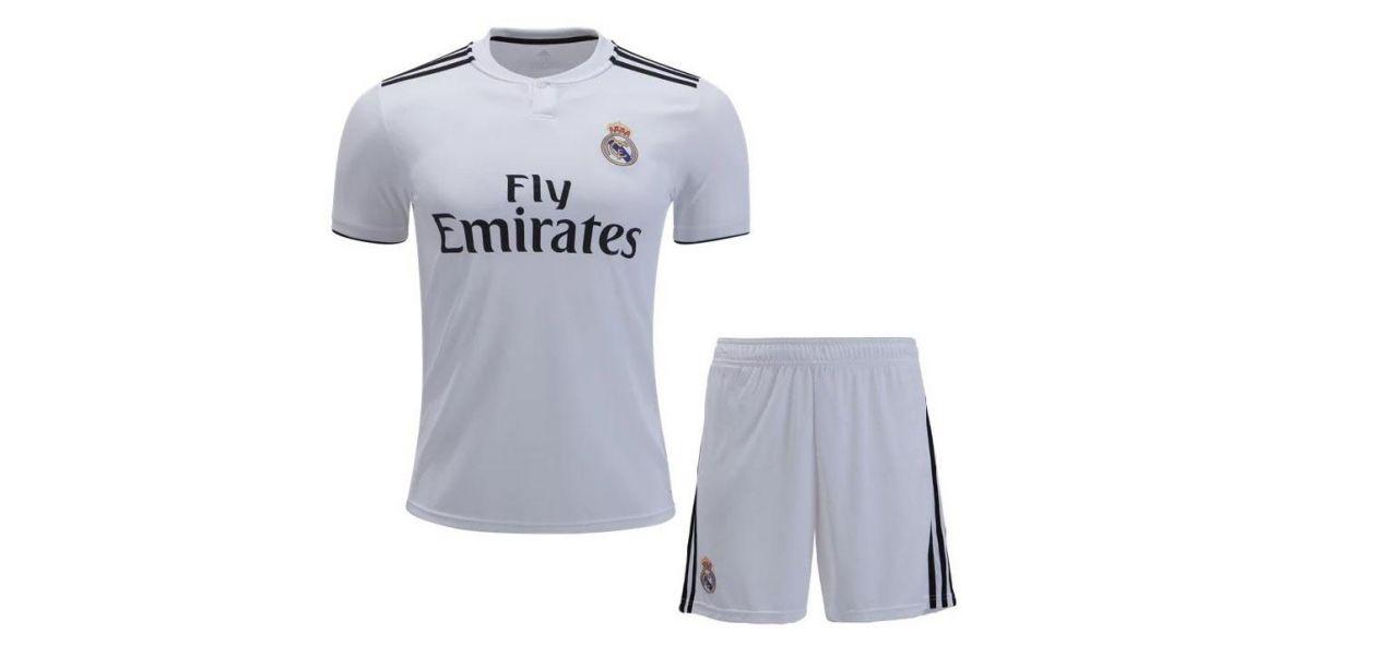 Đồng phục áo thun thể thao tay ngắn cổ tròn màu trắng kèm quần