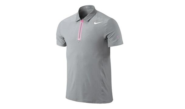 Áo thun đồng phục thể thao nam tay ngắn cổ trụ màu xám