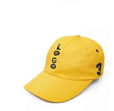 Đồng phục nón kết màu vàng thêu chữ LOGO